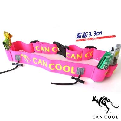 CAN COOL敢酷 3.3cm寬版運動號碼帶(4補給環)(桃黃) C150329004