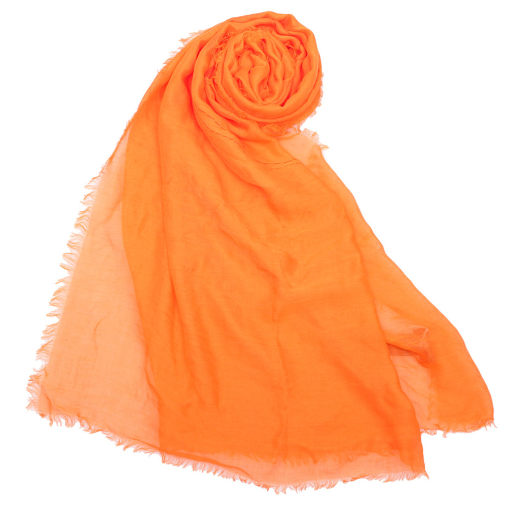 COACH 經典馬車LOGO披肩圍巾-橘色COACH