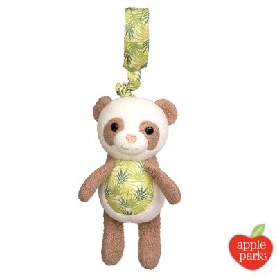 美國 Apple Park 手拉震動搖鈴玩偶 - 綠葉貓熊