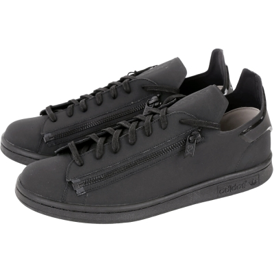 Y-3 Stan Zip 雙拉鍊設計綁帶休閒鞋(黑色)