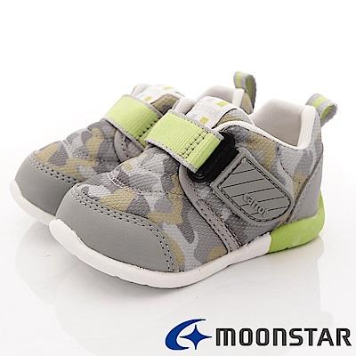 日本Carrot機能童鞋 3E箱型後套款 BON003 灰 (寶寶段)