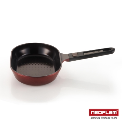 韓國NEOFLAM MyPan系列 28cm陶瓷不沾煎魚鍋+玻璃蓋
