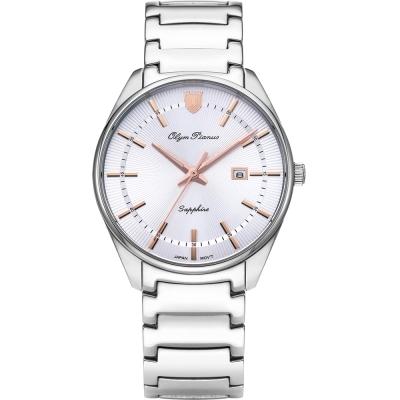 奧柏表 Olym Pianus 都會光采石英腕錶-玫瑰金   5698MS
