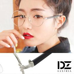 DZ 立體雕紋爪側飾 平光眼鏡(銀