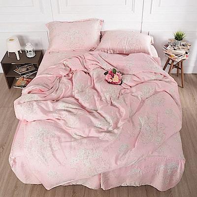 夢工場 和樂喜悅天絲頂規款四件套鋪棉床罩組-雙人