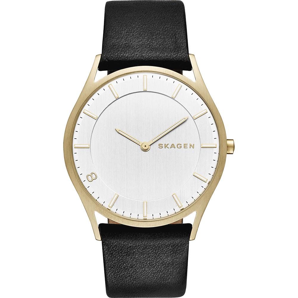 SKAGEN HOLST 全球限量特別版腕錶-金框x黑/38mm