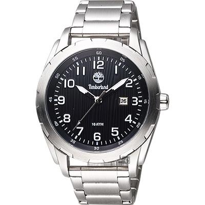 Timberland Waterville 探險家腕錶-黑x銀/45mm