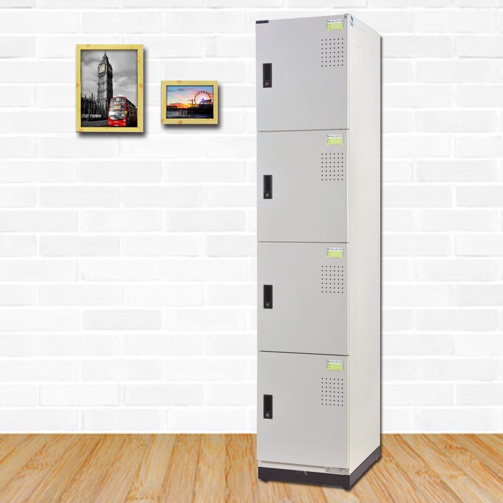 時尚屋 摩洛克多用途鋼製四層置物櫃 寬39x深35x高185cm