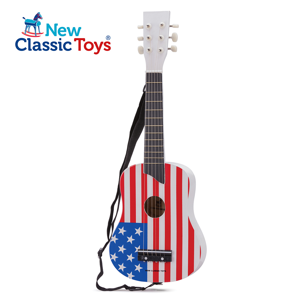 【荷蘭New Classic Toys】幼兒音樂吉他-國旗款/兩色可選