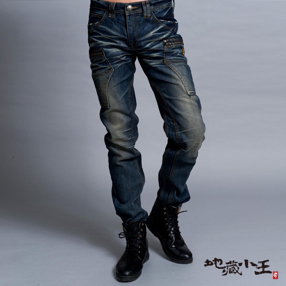 地藏小王 BLUE WAY 雙袋低腰直筒褲