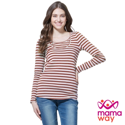 孕婦裝 哺乳衣 百搭圓領長版孕哺上衣(共四色) Mamaway