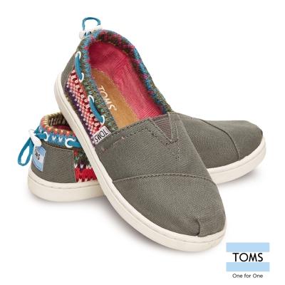 TOMS 抽繩拼接懶人鞋-孩童款