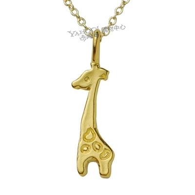 Dogeared美國品牌Reminder金色許願項鍊-長頸鹿