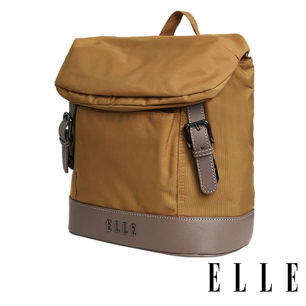 ELLE 時光旅人系列-大容量10吋IPAD直式休閒手提/斜背包-日光駝