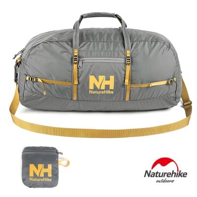 Naturehike戶外旅行大容量折疊防水抗刮手提肩背包 38L 灰色