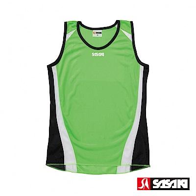 SASAKI 吸濕排汗田徑背心-女-艷綠/白/黑