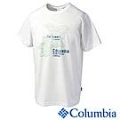 Columbia 哥倫比亞 男款-冰涼快排防曬短袖上衣 白 UPM12180WT