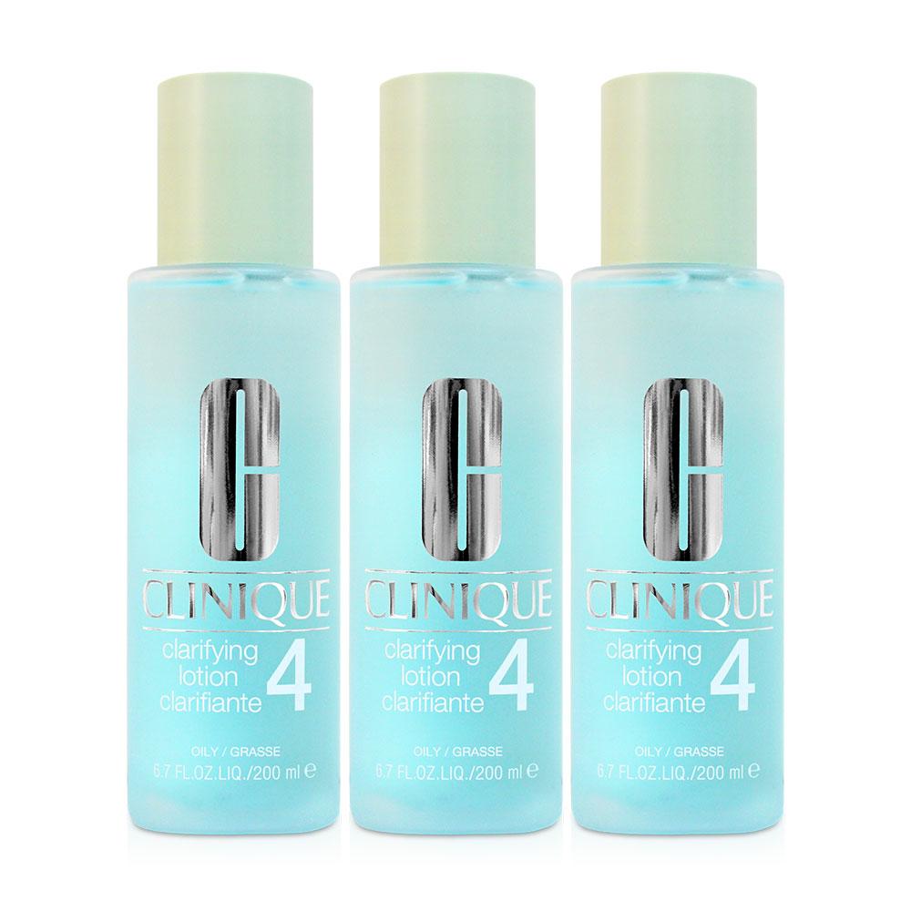 (配)CLINIQUE倩碧 三步驟溫和潔膚水4號200ml(3入)
