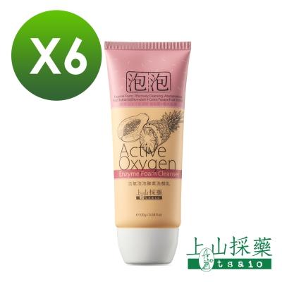 tsaio上山採藥 活氧泡泡酵素洗顏乳100g 6入組