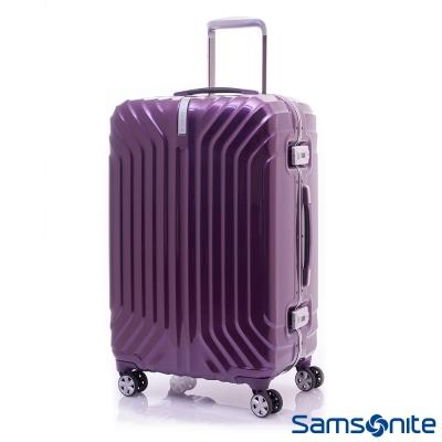 新秀麗-23吋-PC時尚硬殼鋁框登機箱-絢麗紫