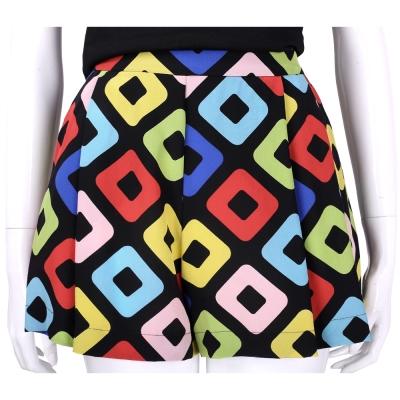 BOUTIQUE MOSCHINO 彩色方塊設計寬口短褲