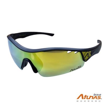 《Atunas Bike》歐都納 單車 SHARK偏光太陽眼鏡 SG16022 霧黑/金