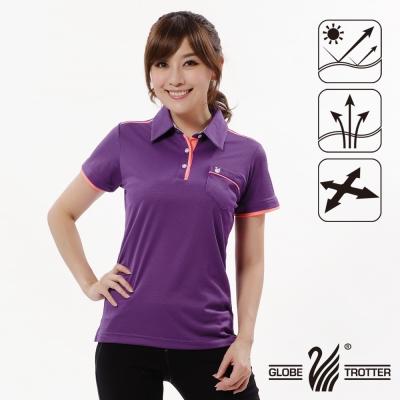 【遊遍天下】女款抗UV吸濕排汗機能POLO衫GS10013紫色
