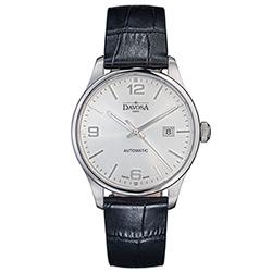 DAVOSA Gentlemen 現代經典紳士系列套裝腕錶-白面/黑皮帶/40mm