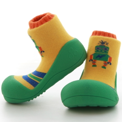韓國Attipas 快樂學步鞋ARO01【機器人 綠底】