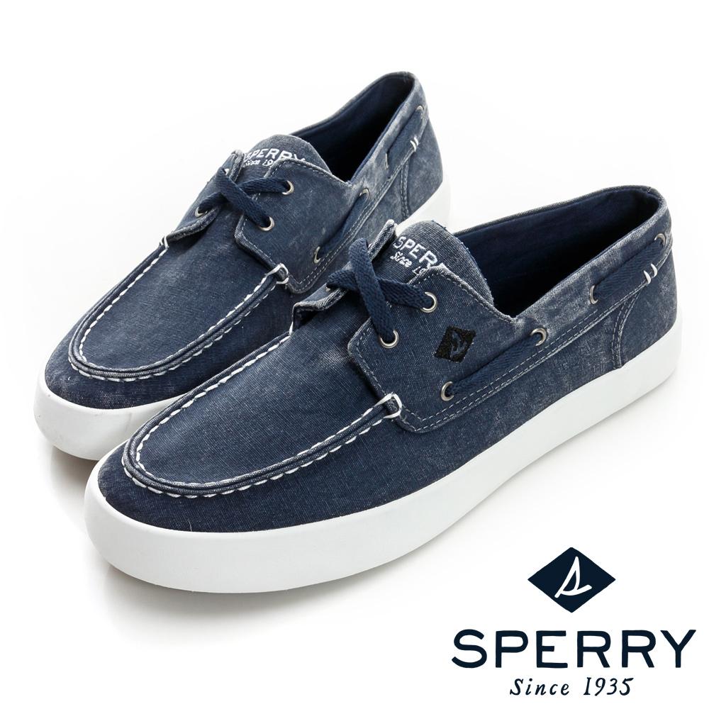 SPERRY 輕量水洗帆船鞋(男)-藍