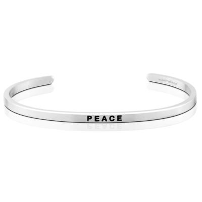 MANTRABAND Peace 銀色手環 得到平和寧靜 擁抱真正幸福