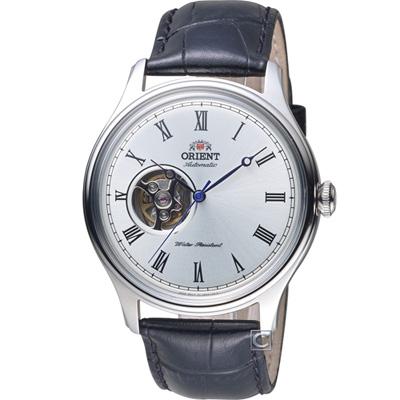 ORIENT 東方錶 SEMI-SKELETON 系列小鏤空機械錶-白/43mm