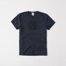 A&F 經典文字印刷設計短袖T恤-深藍色 AF Abercromb
