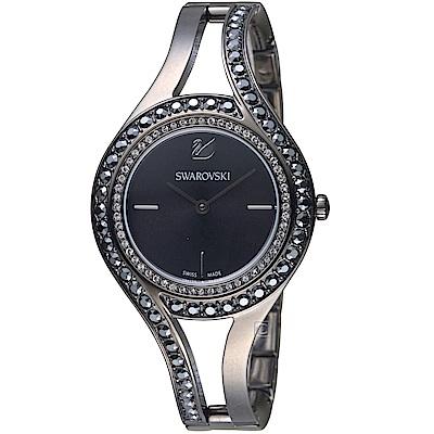 施華洛世奇SWAROVSKI耀眼流線時尚腕錶(5376659)-31mm