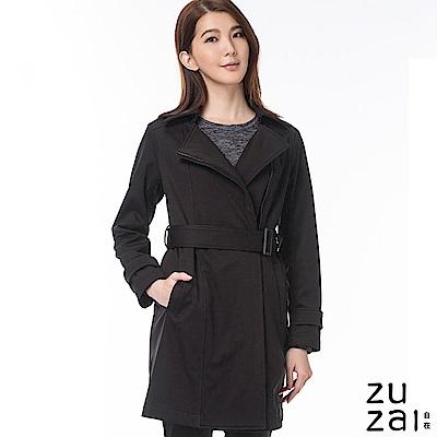 zuzai 自在卓絕長版防水保暖風衣-女-黑色