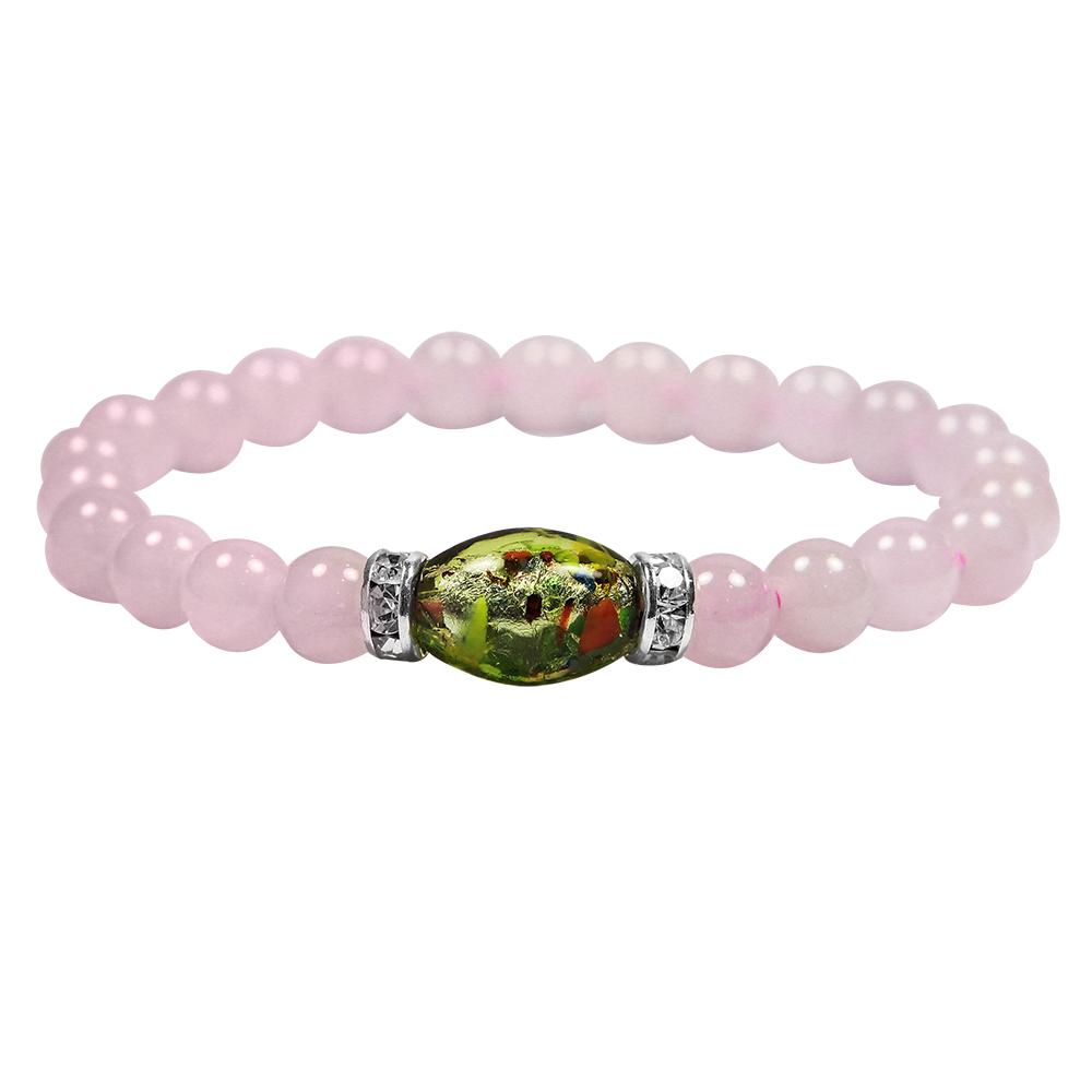 A1寶石七脈輪能量七彩琉璃粉水晶手鍊-招財旺桃花首選-加贈五行玫瑰香氛含開光加持