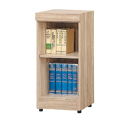 Bernice-達爾思1.3尺開放式二格書櫃/收納櫃/展示櫃-39x32x78cm