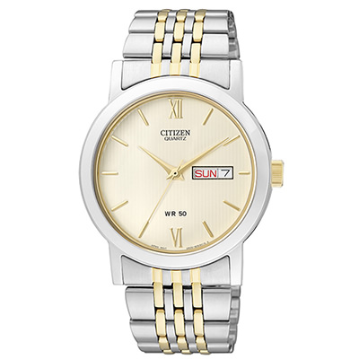 CITIZEN 成熟魅力商務男仕腕錶(BK4054-61A)-黃/36mm