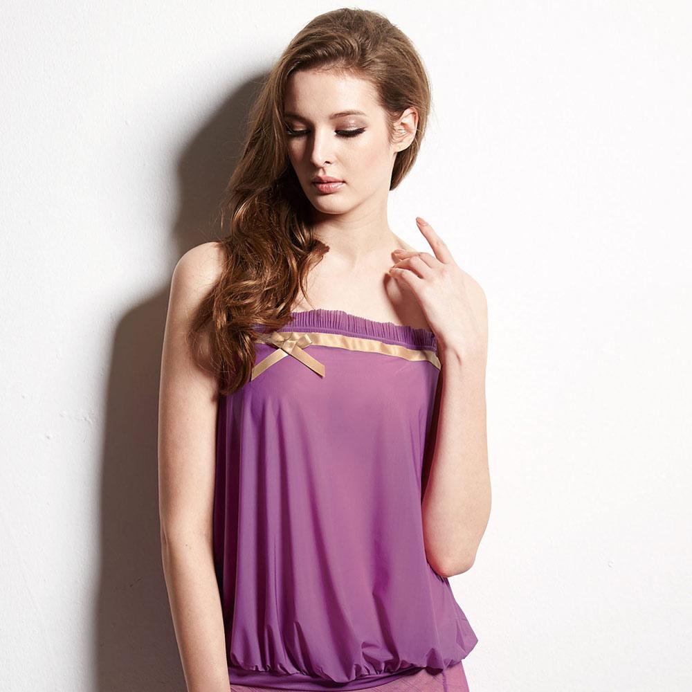 曼黛瑪璉-捧胸bra-擁抱款  細帶背心(紫水晶)