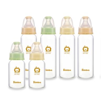 小獅王辛巴 超輕鑽標準玻璃奶瓶大套組(4大2小)