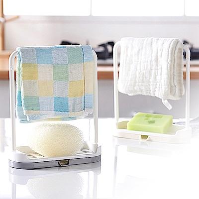 Conalife 多功能抹布肥皂瀝水置物架(2入)
