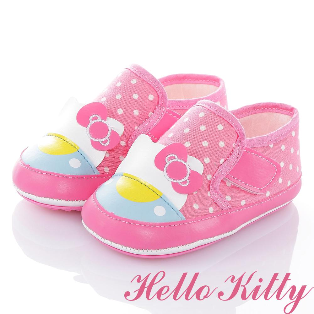 HelloKitty Die-Cut系列 輕量減壓防滑學步童鞋-粉