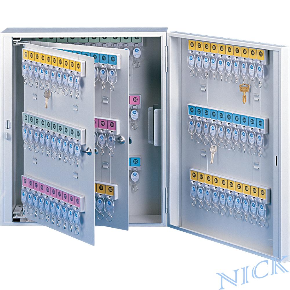 【NICK】乳白色靜電烤漆鋼製鑰匙管理箱_180支