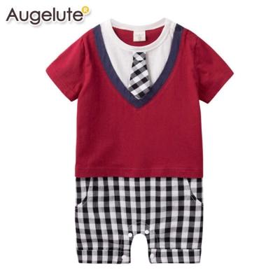 baby童衣 連身衣 假兩件格紋學院風 42178