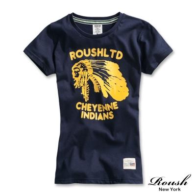 ROUSH 女生美式立體印地安人短TEE (5色)
