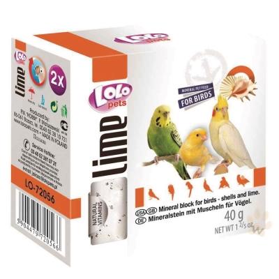 LoLo 鳥類礦物質磨牙石(甲殼素)40g 2入