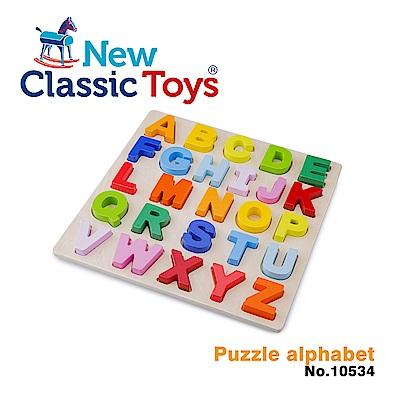 【荷蘭New Classic Toys】幼兒英文字母配對拼圖 - 10534