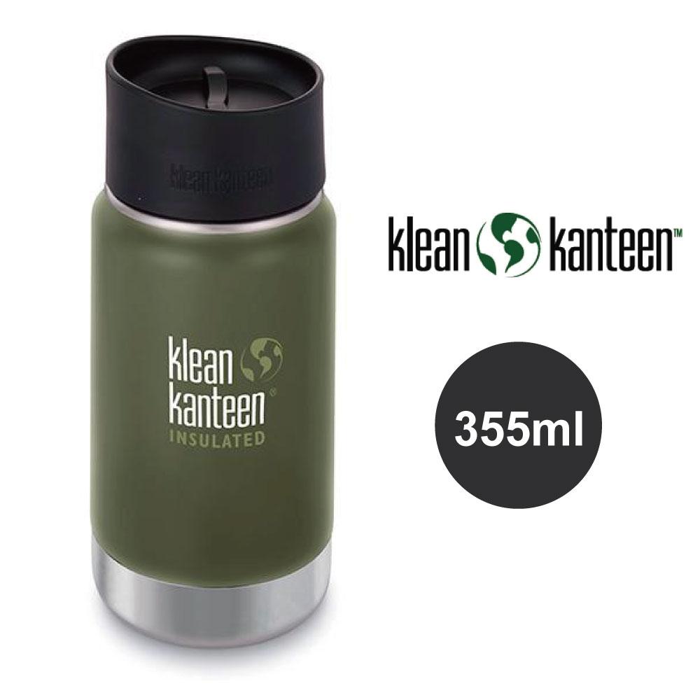 【美國Klean Kanteen】寬口不鏽鋼保溫瓶-355ml-松葉綠