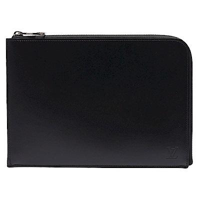 LV R99303 Pochette Jour品牌字母烙印小牛皮拉鍊手拿包小-黑