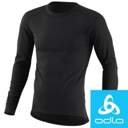 瑞士【Odlo】152022 男銀離子圓領保暖衛生衣(黑)